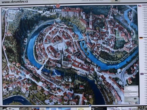 Чески Крумлов. Карта города
