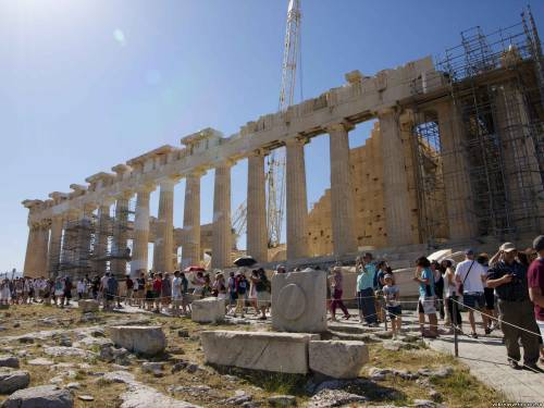 Афины. Акрополь. Толпы туристов